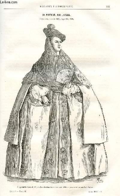 LE MAGASIN PITTORESQUE - Livraison n°08 - Un portrait par Liotard (petit article).