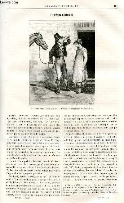LE MAGASIN PITTORESQUE - Livraison n°09 - Le joyeux postillon par J. Colomb.