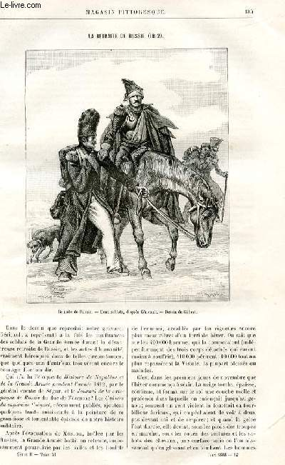 LE MAGASIN PITTORESQUE - Livraison n°12 - La retraite de Russie (1812) par Lesbazeilles.