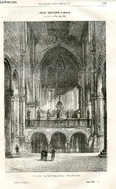 LE MAGASIN PITTORESQUE - Livraison n°16 - L'église Saint Zénon, à Vérone, suite et fin par Maxime Hélène.