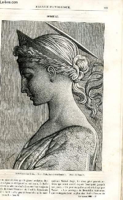 LE MAGASIN PITTORESQUE - Livraison n°17 - Donatello par Ed. Charton.