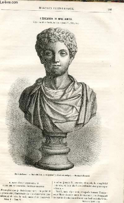 LE MAGASIN PITTORESQUE - Livraison n°24 - L'éducationde Marc Aurèle par Barthélémy Saint Hilaire.