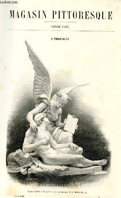 LE MAGASIN PITTORESQUE - Livraison n°01 - L'immortalité par Charles Mayet.