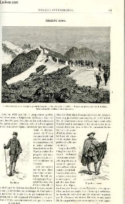 LE MAGASIN PITTORESQUE - Livraison n°05 - Chasseurs alpins.