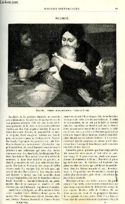LE MAGASIN PITTORESQUE - Livraison n°06 - Maternité.