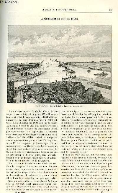 LE MAGASIN PITTORESQUE - Livraison n°10 - L'amélioration du port de Calais.