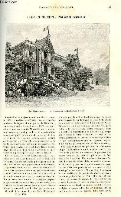 LE MAGASIN PITTORESQUE - Livraison n°12 - Le pavillon des forêts à l'exposition universelle.