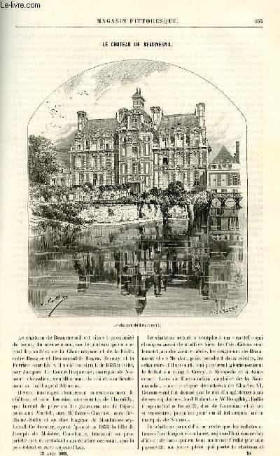LE MAGASIN PITTORESQUE - Livraison n°16 - Le château de Beaumesnil.