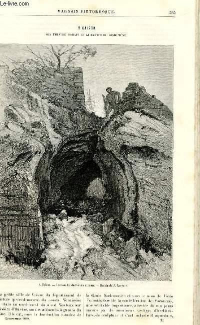 LE MAGASIN PITTORESQUE - Livraison n°21 - A Vaison - son th^éatre romain et la staute du Diadumène.