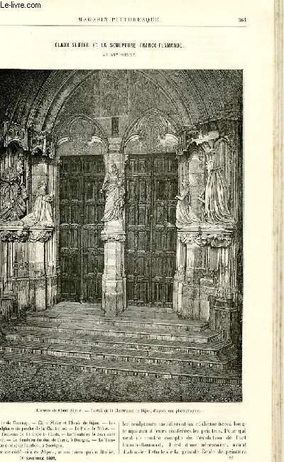 LE MAGASIN PITTORESQUE - Livraison n°22 - Claux Sluter et la sculpture franco-flamande au XVème siècle par E. Muntz, à suivre.