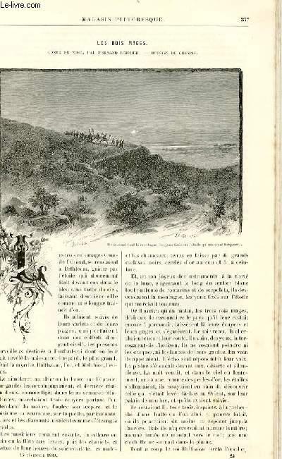 LE MAGASIN PITTORESQUE - Livraison n°23 - Les rois mages,conte de Noël par Fernand Beissier.