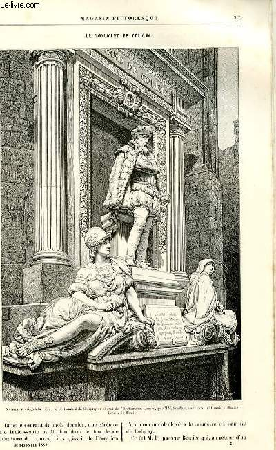 LE MAGASIN PITTORESQUE - Livraison n°24- LE MONUMENT DE COLIGNY