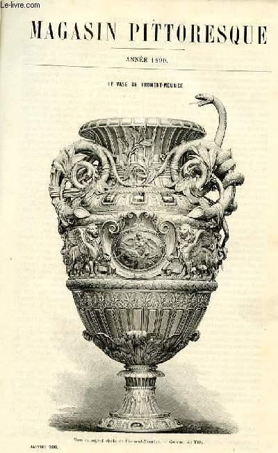 LE MAGASIN PITTORESQUE - Livraison n°01 - Le vase de Froment-Meurice par Nioug (petit article).