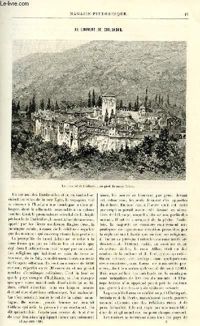 LE MAGASIN PITTORESQUE - Livraison n°02 - Le couvent de Chilandar.