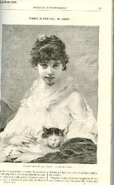 LE MAGASIN PITTORESQUE - Livraison n°05 - Portrait de jeune fille par Chaplin.