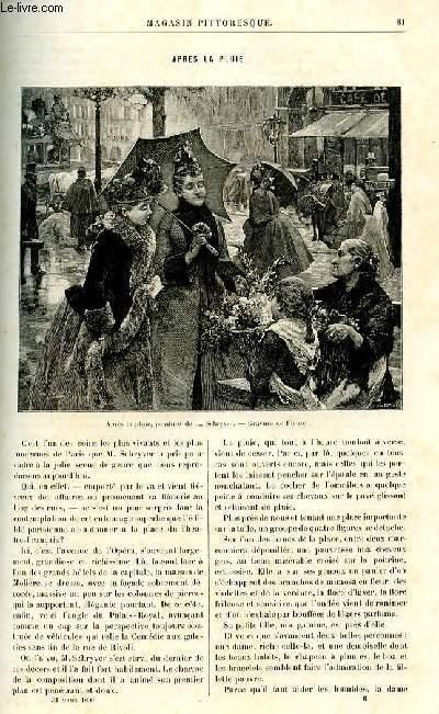 LE MAGASIN PITTORESQUE - Livraison n°06 - Après la pluie par Guérin.