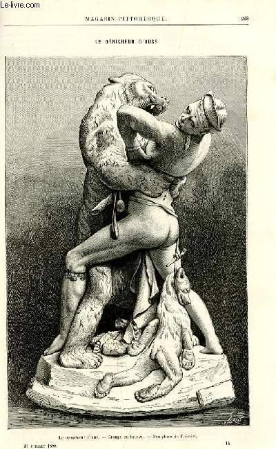 LE MAGASIN PITTORESQUE - Livraison n°14 - Le dénicheur d'ours par Frémiet.