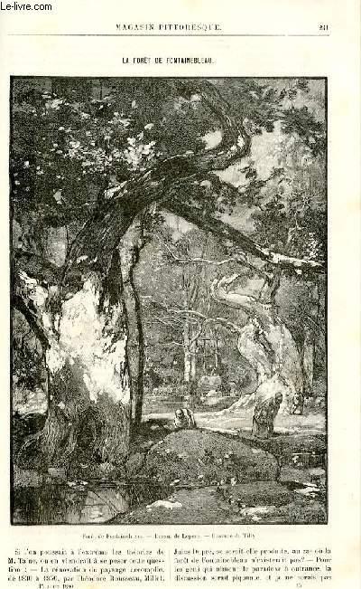 LE MAGASIN PITTORESQUE - Livraison n°15 - La forêt de Fontainebleau par Thiébault Sisson.