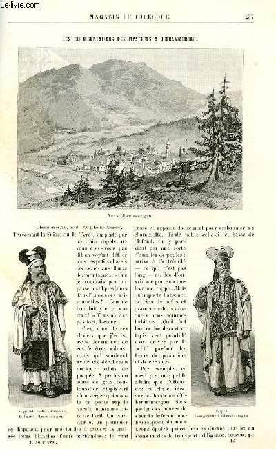 LE MAGASIN PITTORESQUE - Livraison n°16 - Les représentations des mystères à Oberammergau par Félix Dubois,à suivre.