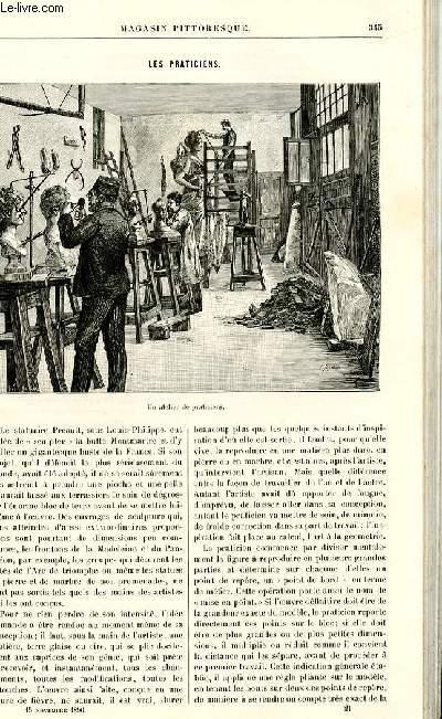 LE MAGASIN PITTORESQUE - Livraison n°21 - Les praticiens par Colin.