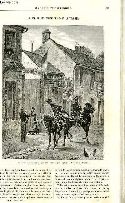 LE MAGASIN PITTORESQUE - Livraison n°23 - Le départ des gendarmes pour la tournée.