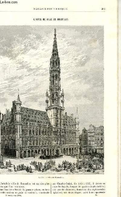 LE MAGASIN PITTORESQUE - Livraison n°24 - L'hôtel de ville de Bruxelles  par Thiébault Sisson.