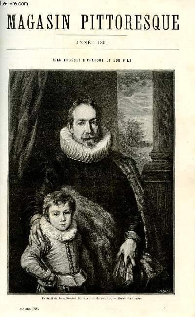 LE MAGASIN PITTORESQUE - Livraison n°01 - Jean Grusset Richardot et son fils par Paul Mantz.