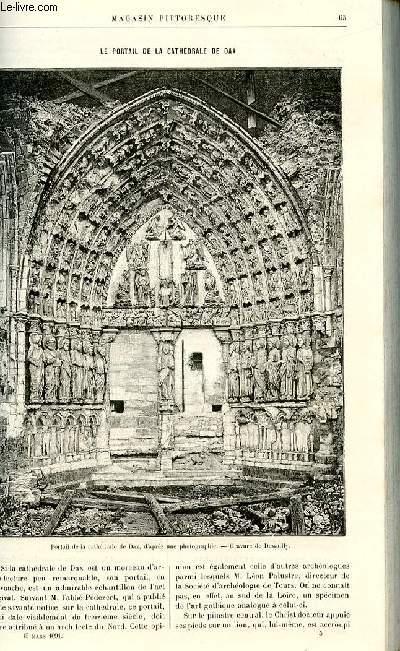 LE MAGASIN PITTORESQUE - Livraison n°05 - Le portail de la cathédrâle de Dax.