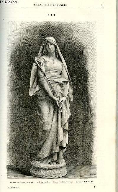 LE MAGASIN PITTORESQUE - Livraison n°06 - Le lys (gravure).