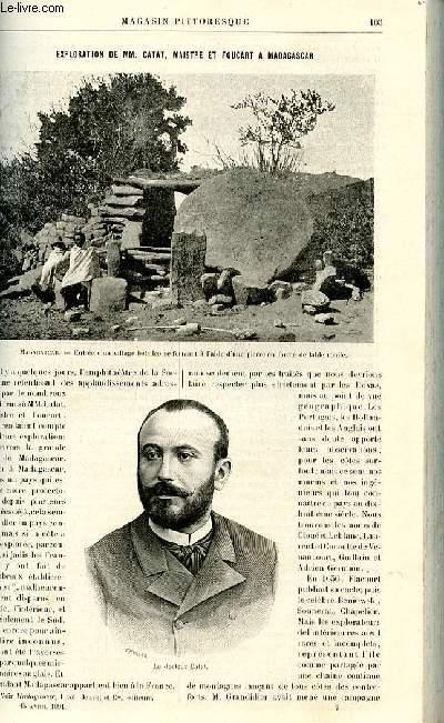 LE MAGASIN PITTORESQUE - Livraison n°07 - Exploration de MM. Catat, Maistre et Foucart  Madagascar par Bellet.a