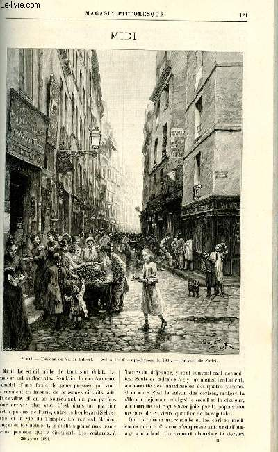 LE MAGASIN PITTORESQUE - Livraison n°08 - Midi par A.P.