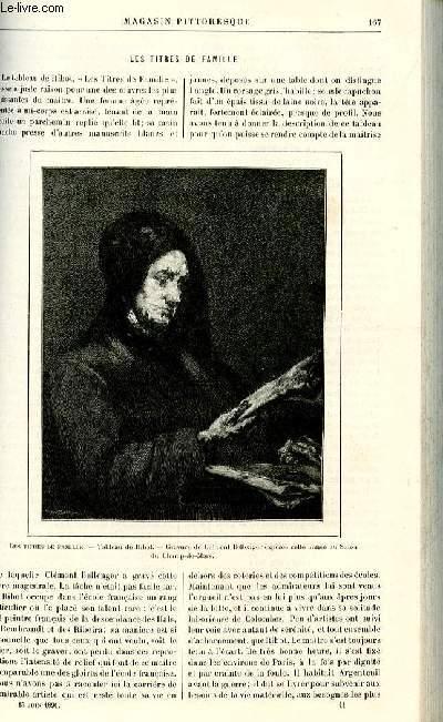 LE MAGASIN PITTORESQUE - Livraison n°11 - Les titres de famille par  par Heyssel.