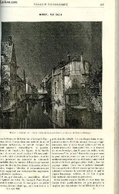LE MAGASIN PITTORESQUE - Livraison n°13 - Minuit, par Cazin (gravure)/