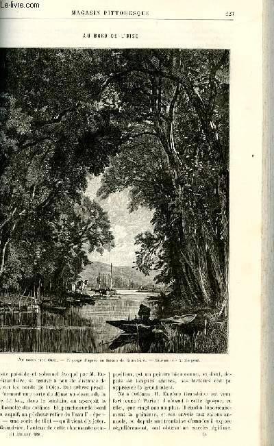 LE MAGASIN PITTORESQUE - Livraison n°14 - Au bord de l'Oise (gravure).