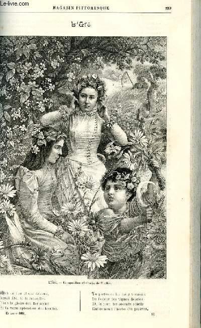 LE MAGASIN PITTORESQUE - Livraison n°15 - L'été , gravure par Mathis.
