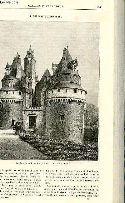 LE MAGASIN PITTORESQUE - Livraison n°16 - Le château de Rambures par Thiébault-Sisson.