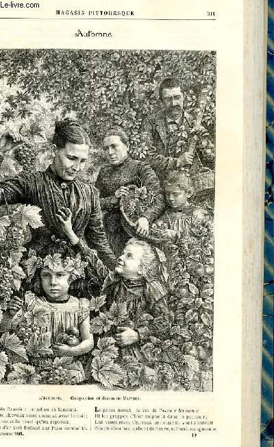 LE MAGASIN PITTORESQUE - Livraison n°19 - Automne, gravure.