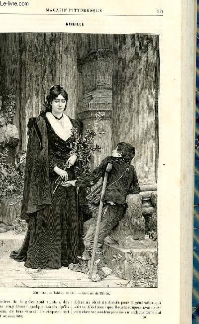 LE MAGASIN PITTORESQUE - Livraison n°20 - Mireille par Janson (gravure).