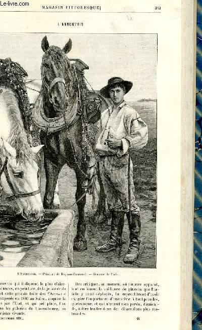LE MAGASIN PITTORESQUE - Livraison n°21 - L'abreuvoir par Thiébault-Sisson (gravure du tableau de Dagnan-Bouveret).