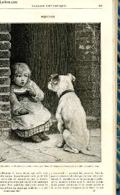 LE MAGASIN PITTORESQUE - Livraison n°24 - Inquiétude, gravure.