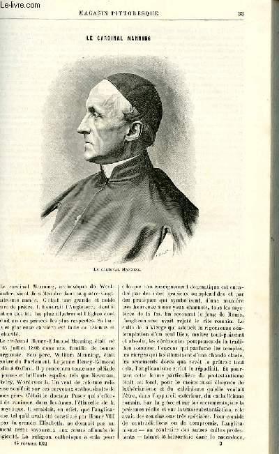 LE MAGASIN PITTORESQUE - Livraison n°03 - Le cardinal Manning..