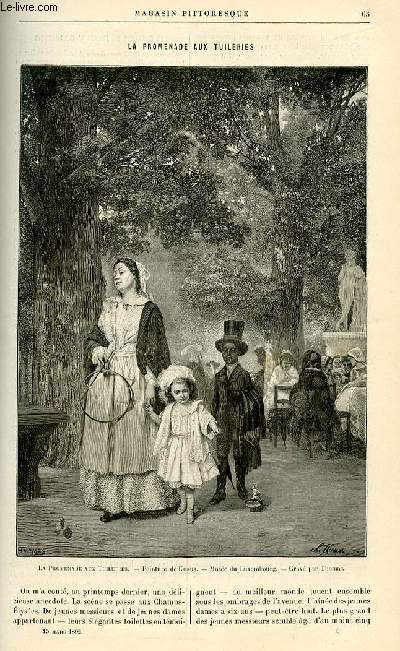 LE MAGASIN PITTORESQUE - Livraison n°05 - La promenade aux Tuileries .