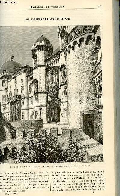 LE MAGASIN PITTORESQUE - Livraison n°07 - Cour d'honneur du château de la Penha.