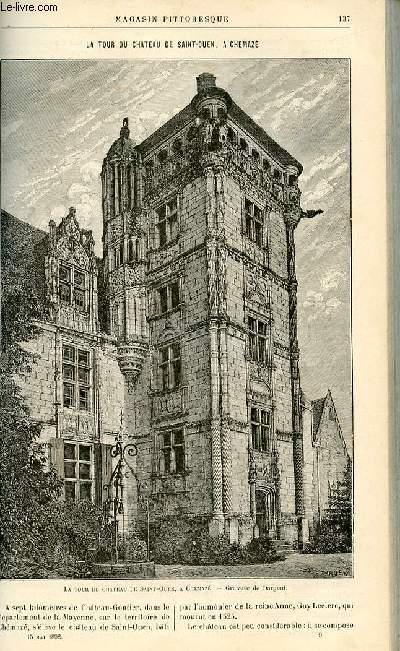 LE MAGASIN PITTORESQUE - Livraison n°09 - La tour du château de Saint Ouen à Chémaze.