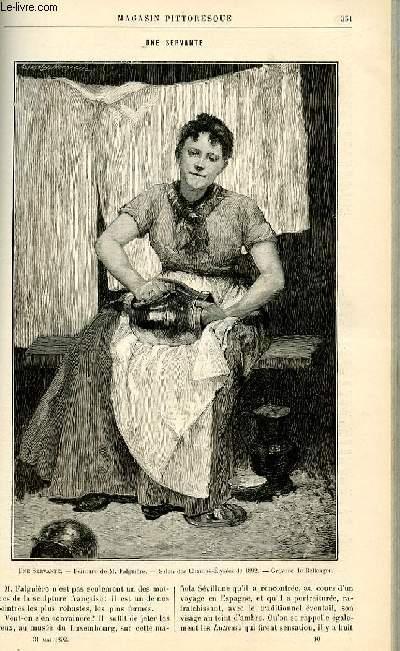 LE MAGASIN PITTORESQUE - Livraison n°10 - Une servante.