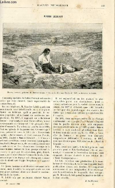 LE MAGASIN PITTORESQUE - Livraison n°14 - Manon Lescaut.