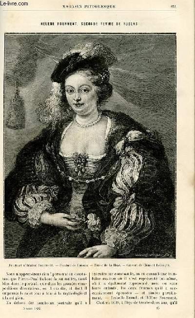 LE MAGASIN PITTORESQUE - Livraison n°15 - Hélène Fourment, seconde femme de Rubens.