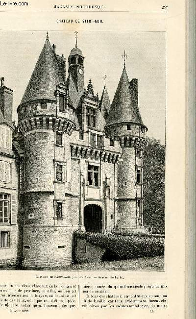 LE MAGASIN PITTORESQUE - Livraison n°16 - Château de SAint Agil.