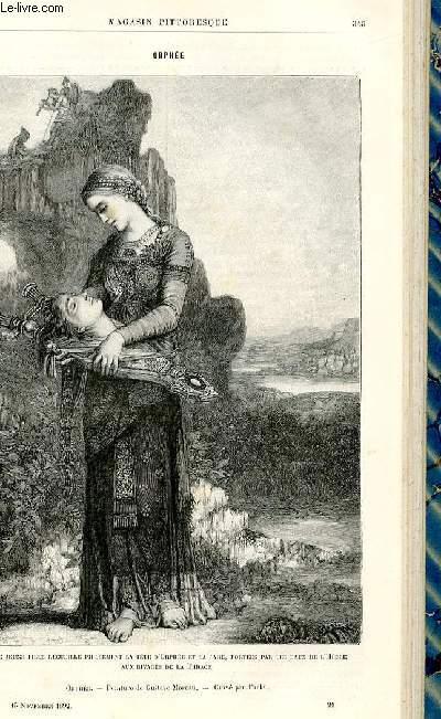 LE MAGASIN PITTORESQUE - Livraison n°21 - Orphée.