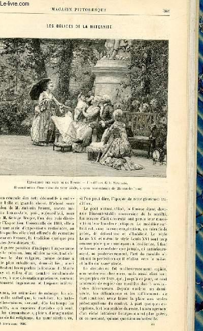 LE MAGASIN PITTORESQUE - Livraison n°22 - Les délices de la maternité,à suivre.